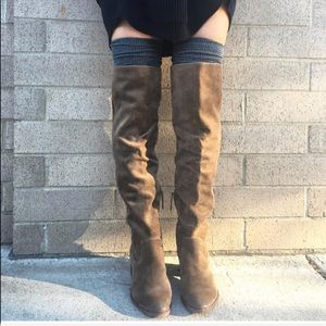 NIB Smoke Slouch Suede Over The Knee Boots